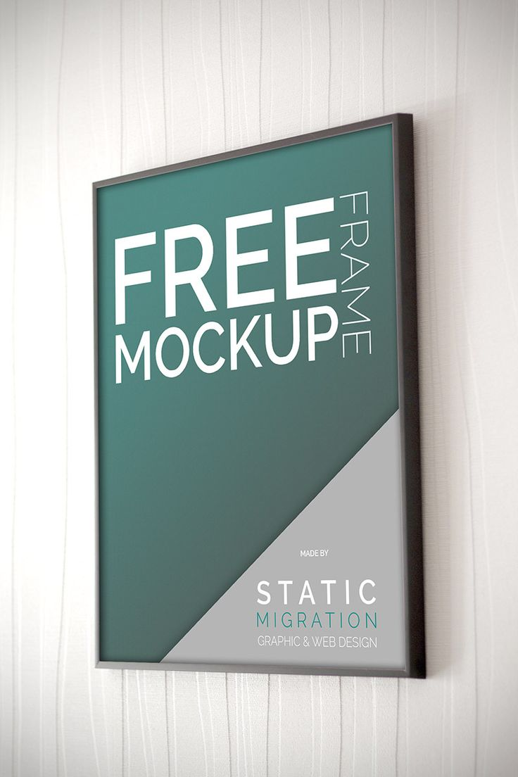 Poster design mockup - Free Frame On Wall Mock Up Template It Works With Smart Object And Is