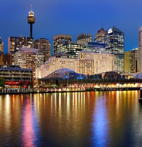 Darling Harbor, Sydney Australia.  Boats, restaurants and clubs all in one place?  I was in love.