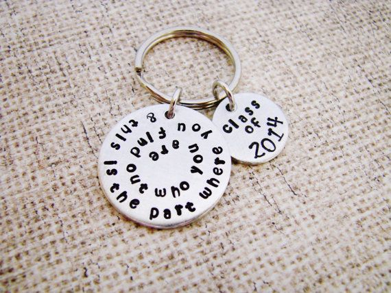 Graduation gift hand stamped jewelry& this by ChristinesImpression, $24.00