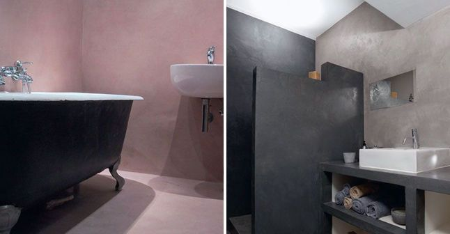Le b ton cir donne du cachet la salle de bains - Beton cire salle de bain leroy merlin ...