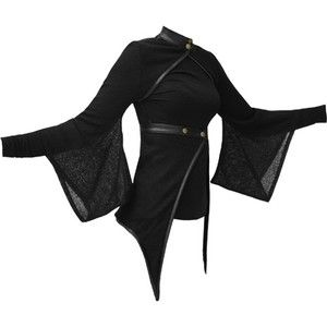 Vodabox Kimono Shrug Wrap w/ leather look Trim Polo Neck