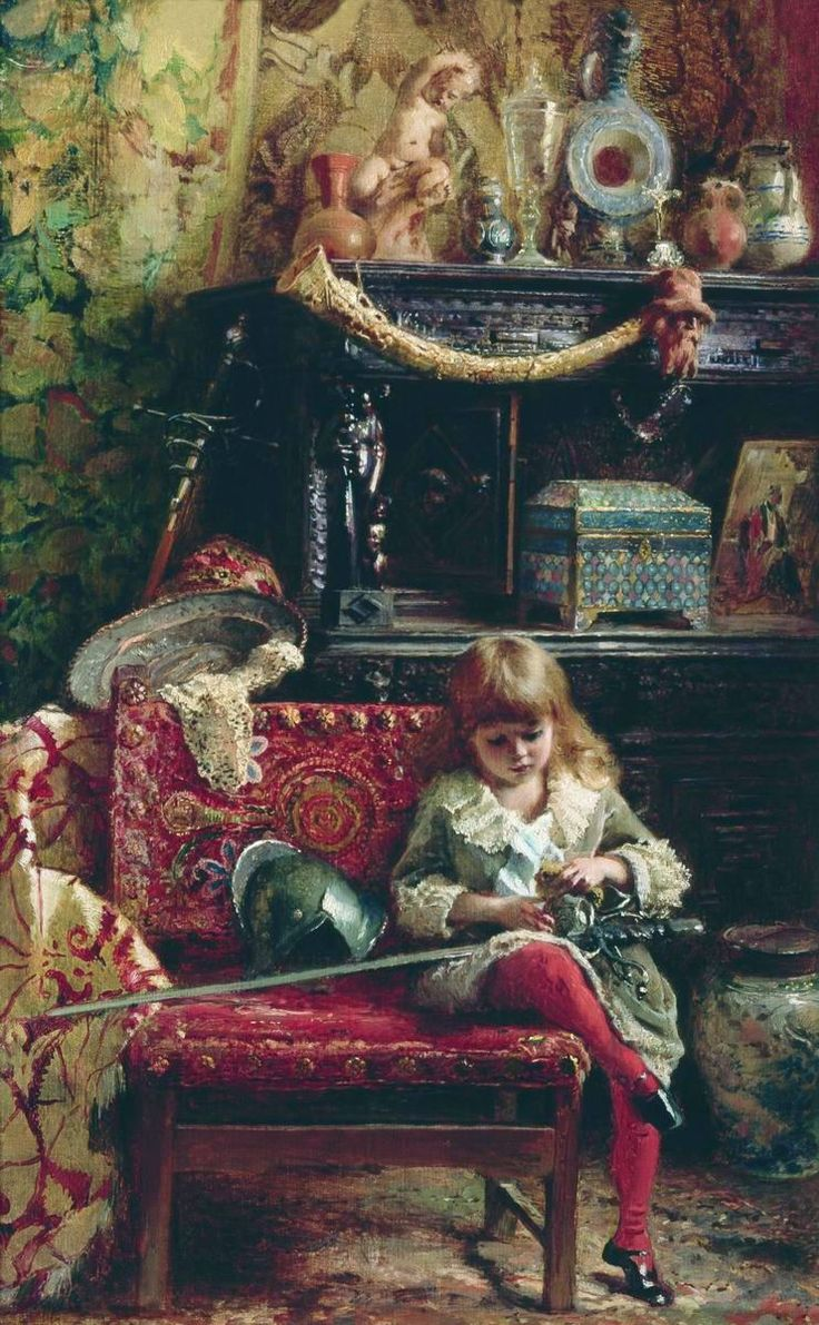 son of artist Konstantin Makovski - This is still life, interior and portrait all at once!!