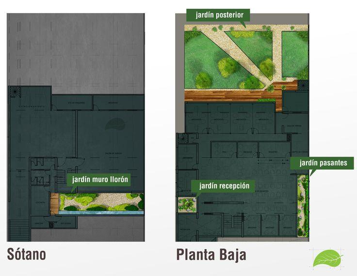 Proyecto de áreas verdes: jardín trasero, patios interiores y sobre losa. Mas de 200m2 de proyecto. Vegetación de bajo mantenimiento y zonas de relajación en conjunto con áreas de uso común. Se respetaron arboles existentes y se respeto la vegetación nativa.