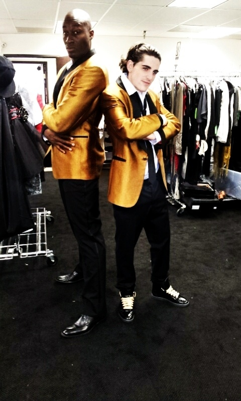 @JamesMassone  and @JermainePaul killing it not mention looking quite handsome in Gold tuxes Motown Classic