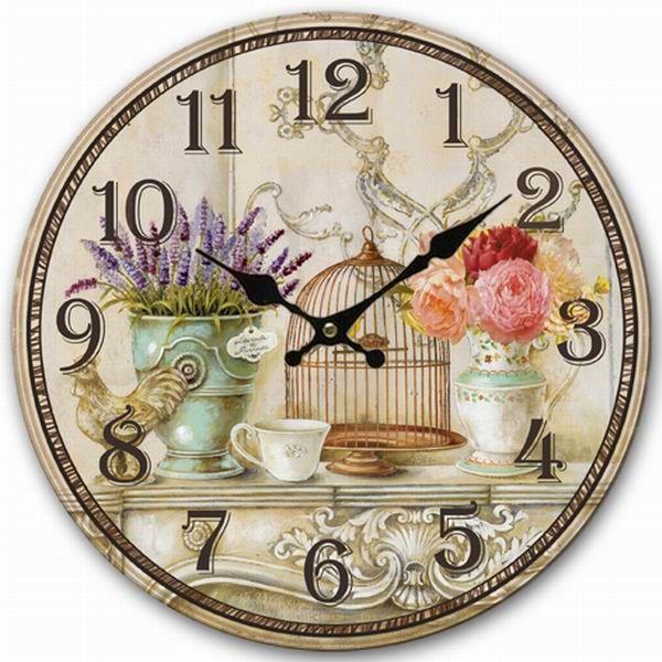 Купить товарРетро винтажный стиль большие часы птичья клетка лаванды для цветов декоративные настенные часы дерево 34 см в категории Настенные часына AliExpress.      100% новый      Материал: качество МДФ, дерево  Размер: диаметр = 34 см примерно  Количество: 1 шт. настенные