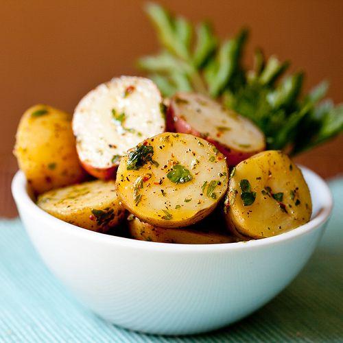 Potato Salad with Herbed Dijon Vinaigrette Serves 2-4 1 1/2 to 2 lbs ...
