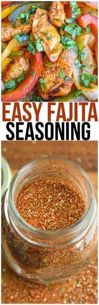 Make your own homemade fajita seasoning recipe instead of using a seasoning packet! It's perfect for chicken fajitas, steak fajitas, shrimp fajitas, or even vegetarian fajitas. via @CourtneysSweets