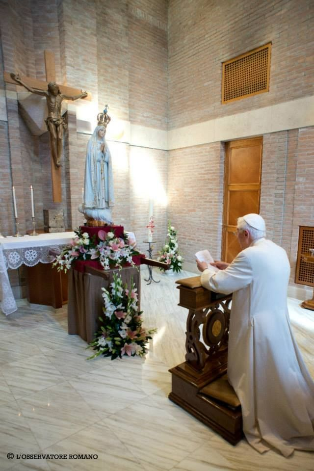 The pope spends one on one time with Jesus. Spending time with God is the most important things in his life.