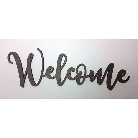 Welcome Sign Large Welcome Sign Wooden Welcome Sign Wood Etsy Wooden Welcome Signs Wooden Wall Signs Wooden Words