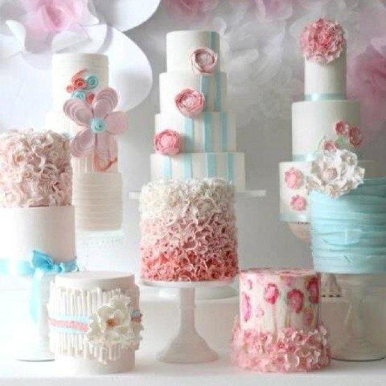 From Donna Makes CakePink Flower, Pastel, Fun Recipe, Romantic Wedding, Parties Cake, Blue Cake, Wedding Cake, Music Cake, Fondant Flower