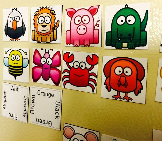 Animal Connections Magnetic Fridge Game