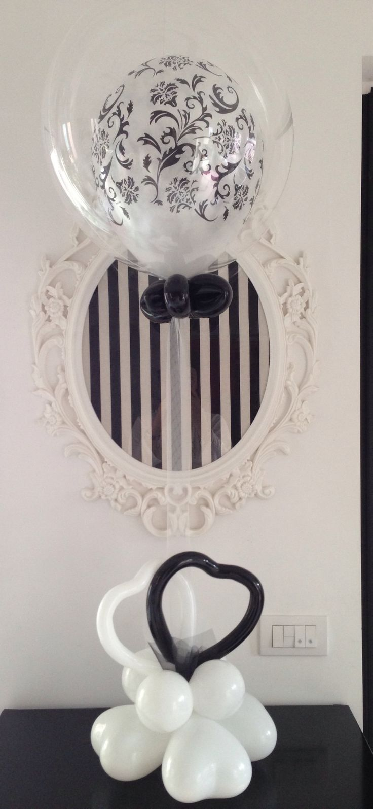 Centrotavola Black&White