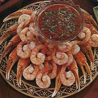 Shrimp and Crab with Cocktail Salsa