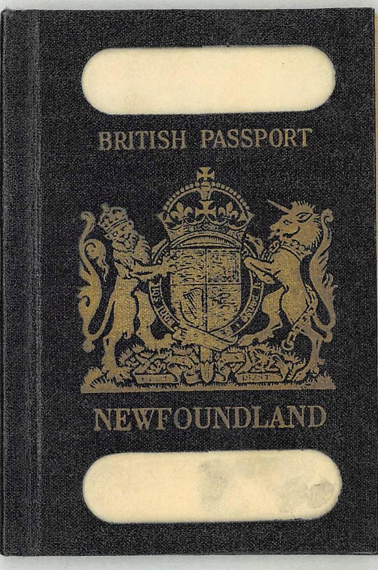 There was a time when the Dominion of Newfoundland had a passport.