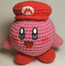 Kirby, Super Mario Brothers, amigurumi