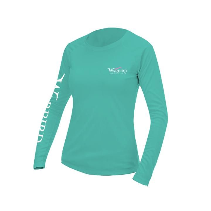 Ladies OTP UV Shirt: Warbird Logo-Water Blue