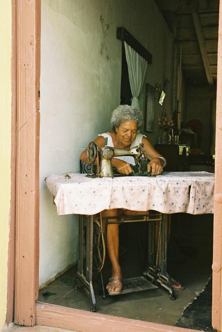 Trinidad, woman working