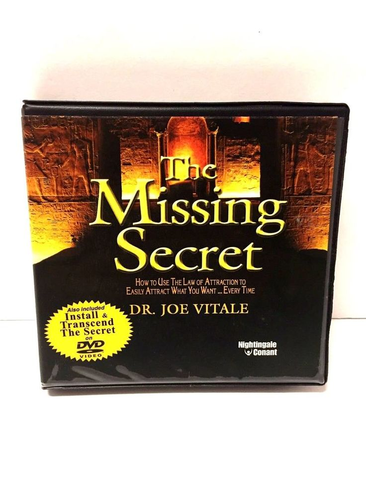 The Missing Secret by Dr. Joe Vitale Nightingale Conant 7 CD's 1 DVD