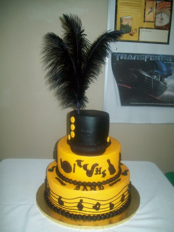 Marching Band Cake...imagine this in maroon and gold~