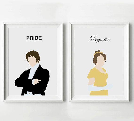 Stolz und Vorurteil Poster Set Mr. Darcy und von ByScatterbrain