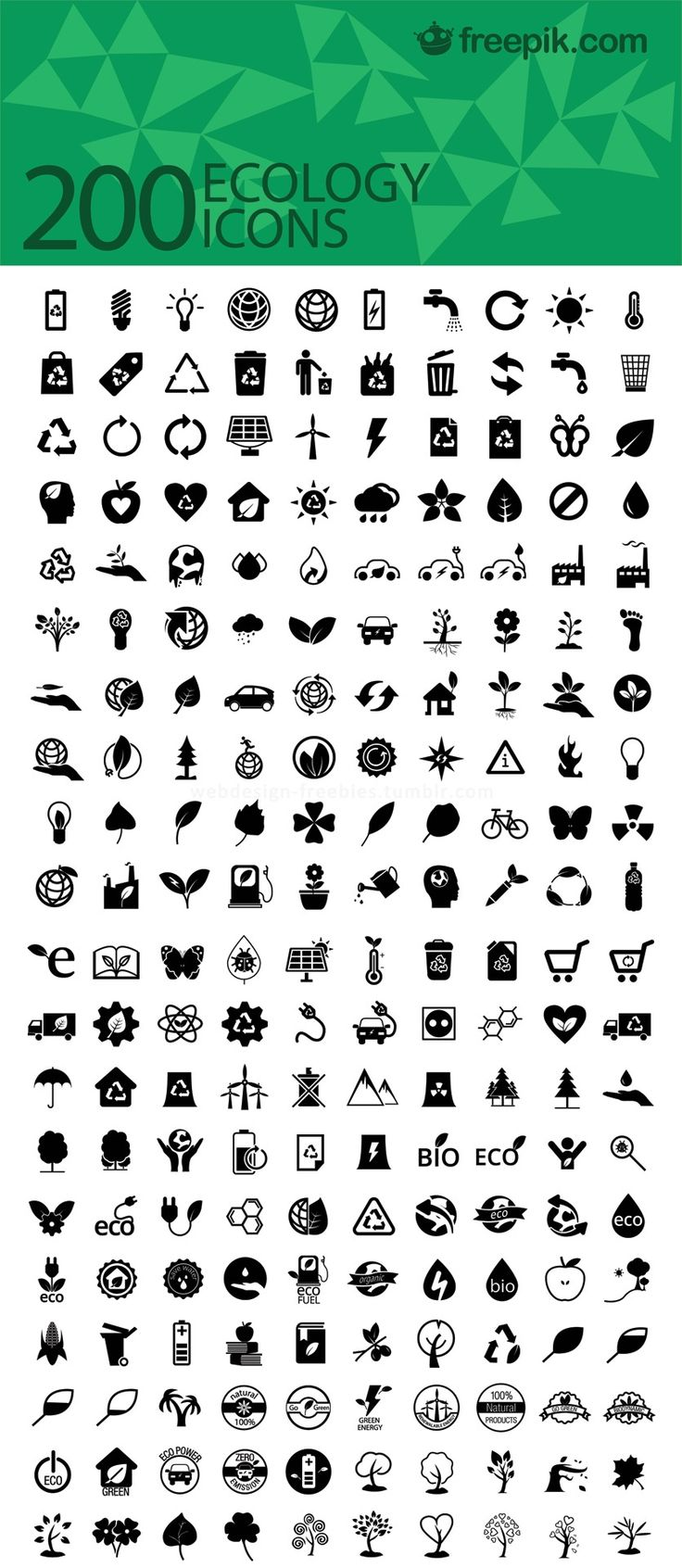 Más de 200 iconos ecologicos