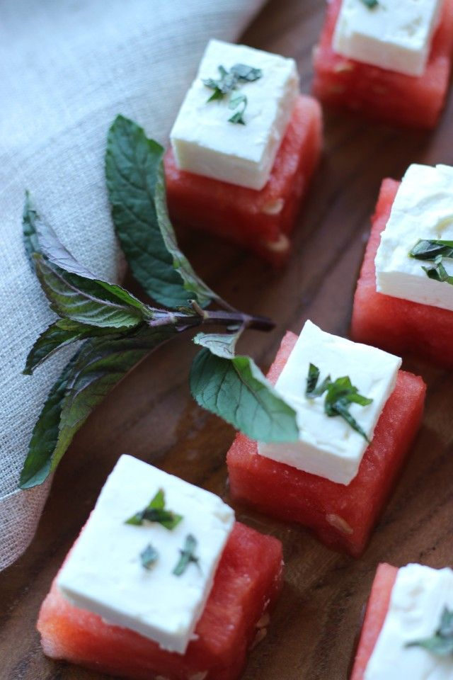 Watermelon Feta Bites make a great summer appetizer.