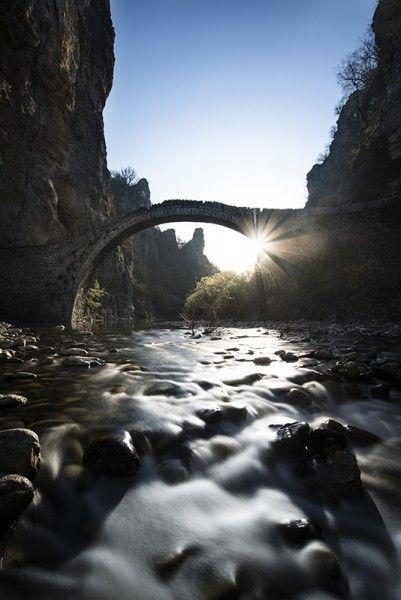 Bridge of Kokkori, or Noutsos, sunrise, Pindus Mountains, Greece - Greece mainland Workshop - Ollie Taylor Photography