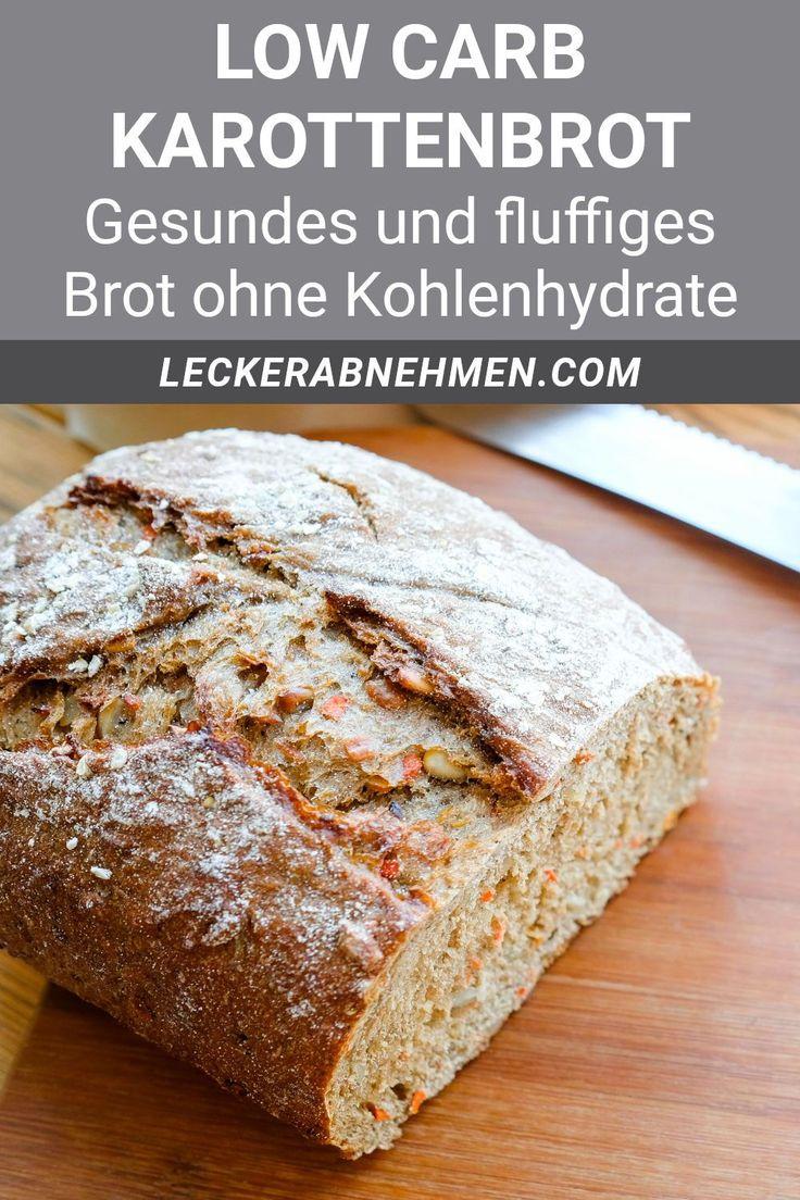 Saftiges Low Carb Karottenbrot - Brot ohne Kohlenhydrate