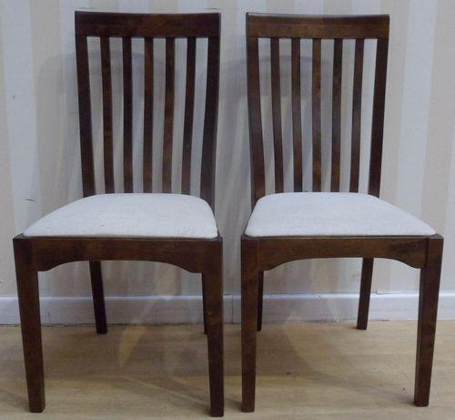 Laura Ashley Garrat Pair Of Dining Chairs Chestnut Finish