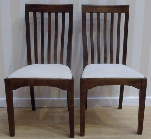 Laura Ashley Garrat Pair Of Dining Chairs Chestnut Finish