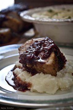 Lomo de cerdo con arándanos y frambuesa  #navidad #christmas #recipes #recetas