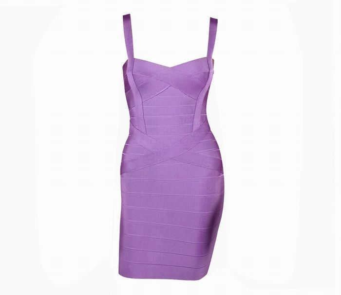 Sweetheart Neckline Club Solid Color Women's Bandage Dress, PURPLE, S in Bandage Dresses | DressLily.com