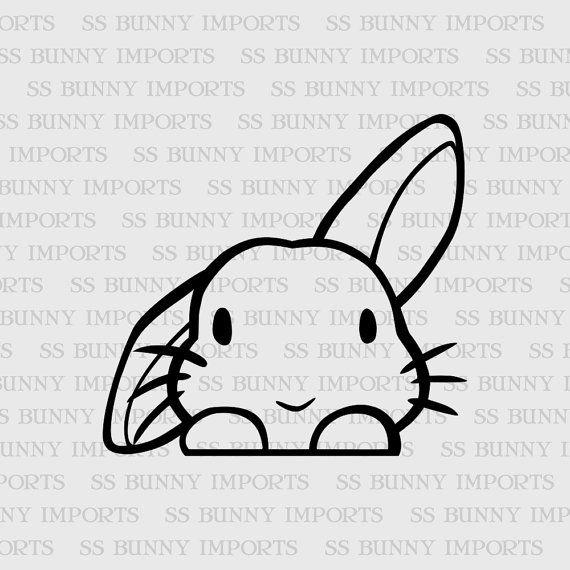 Dando una occhiata a carina metà lop adesivo in vinile coniglietto; decalcomania portatile coniglio / decalcomania dell