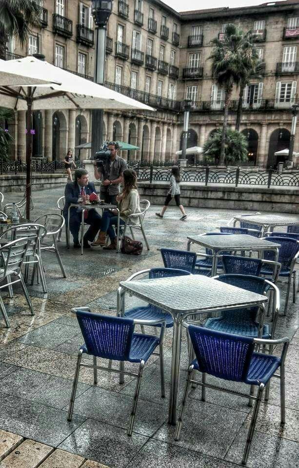 Bilbao. Plaza Nueva. Con el nuevo alcalde Aburto