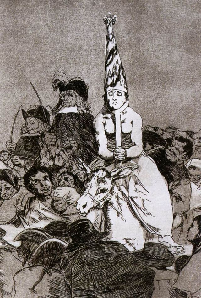 There was no remedy. No tenía remedio. Goya. 1797-1798. Los Caprichos. Etching and aquatint. 217 x 152 mm.