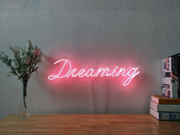 Dreaming Real Glass Neon Sign For Bedroom Garage Bar Man Cave Room