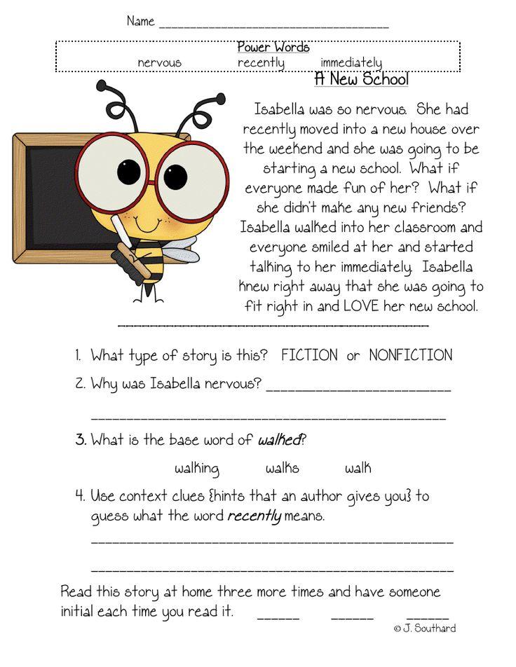 English Worksheets For Grade 1 Reading : 178 best grade 1 images on pinterest