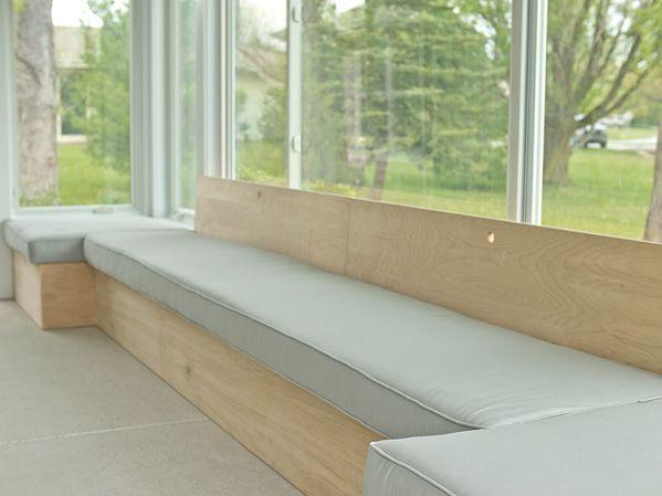 DIY bench seating- breakfast nook possibilities.....