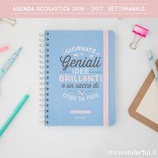 Agenda 2016 - 2017 Settimanale - Giornate geniali, idee brillanti e un sacco di cose da fare (IT)