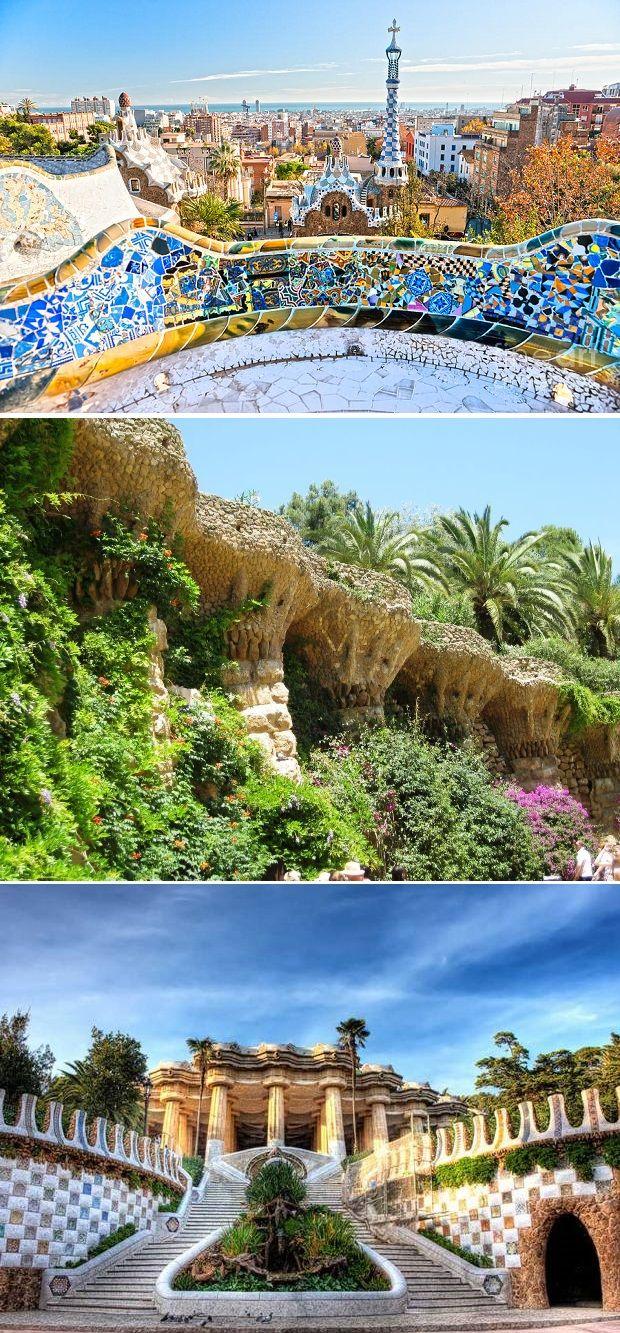 Park Guell, Antoni Gaudi. Barcelona. Het was heel leuk om hier naar toe tegaan en een wandeling te maken tijdens het mooie weer. Het werk is heel speciaal.