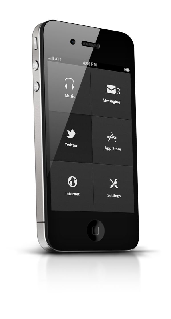 Phone UI Retina - Apocalipse by Ismail MESBAH, via Behance