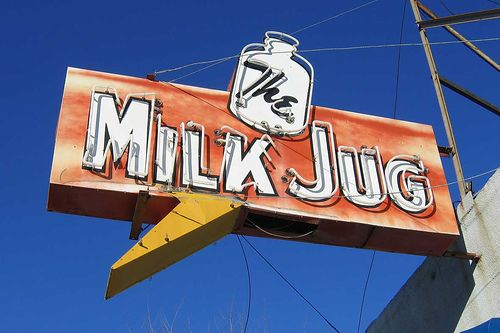 Milk Jug Old Neon Sign