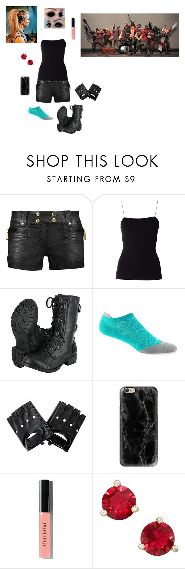 """""""Day 1 with Red Team (Team Fortress 2)"""" by fifthelement ❤ liked on Polyvore featuring Just Cavalli, T By Alexander Wang, Smartwool, Casetify, Bobbi Brown Cosmetics and Kate Spade"""