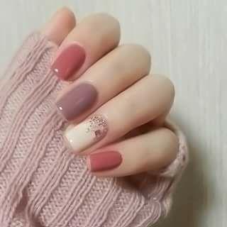 Nails soft colors