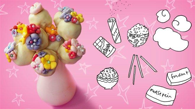 Bloemen die je op kunt eten: maak deze cakepops
