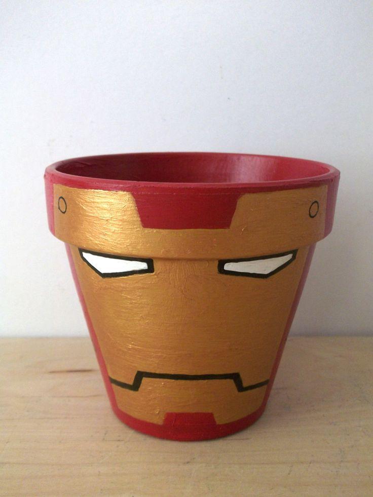 EisenMannAvengers Marvel Superhelden gemalt von GingerPots auf Etsy, $16,00