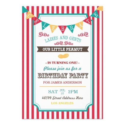 437 best Circus Baby Shower Invitations images on Pinterest Baby