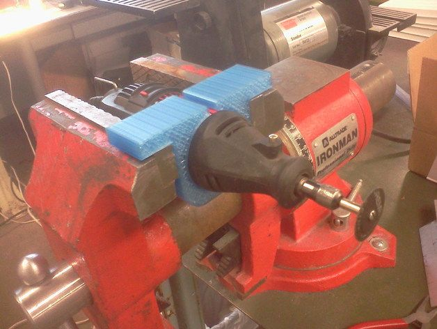 Dremel Holder for bench vise by msburko - / One can make this out of discarded boogie board.