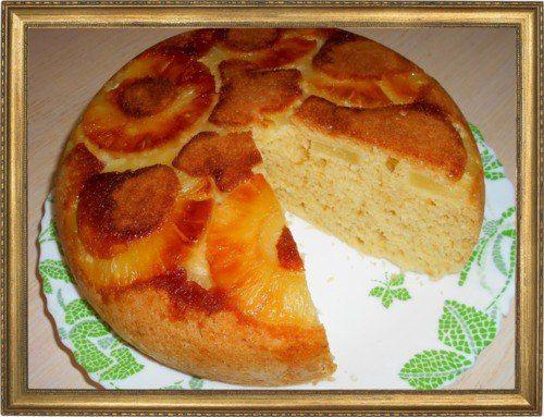 Ананасовый пирог.
