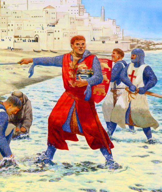 The Siege of Acre was the first significant counter attack by King Guy of Jerusalem. The siege lasted from August 1189 until July 1191, in which time the city's coastal position meant the attacking Latin force were unable to fully invest the city and Saladin was unable to fully relieve it with both sides receiving supplies and resources by sea. It was a key victory for the Crusaders and a serious setback for Saladin's ambition to destroy the Crusader States.